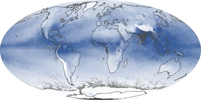 Global Map Water Vapor Image 67