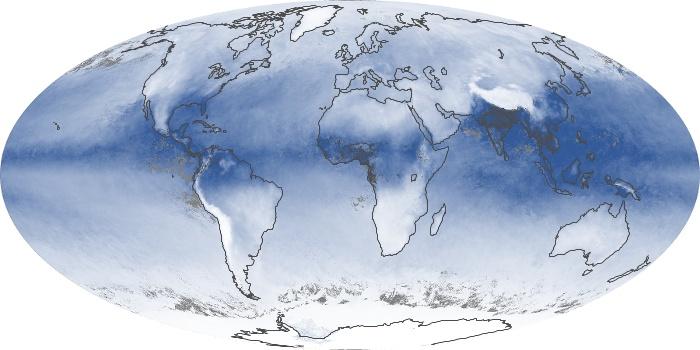 Global Map Water Vapor Image 68
