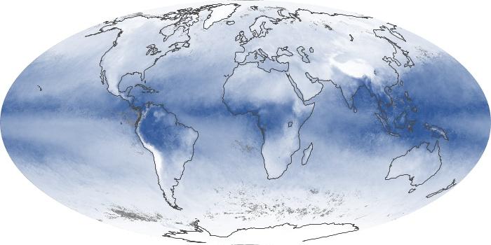 Global Map Water Vapor Image 70