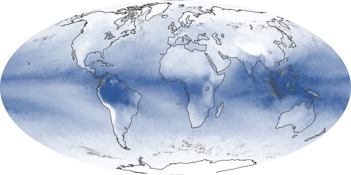 Global Map Water Vapor Image 71