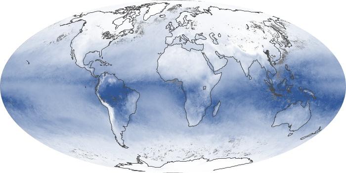 Global Map Water Vapor Image 55