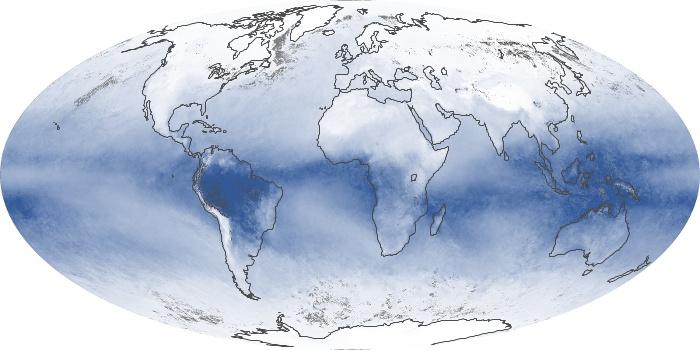 Global Map Water Vapor Image 74