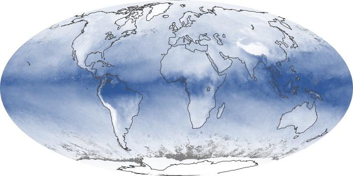 Global Map Water Vapor Image 59