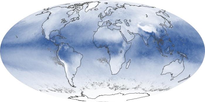 Global Map Water Vapor Image 81