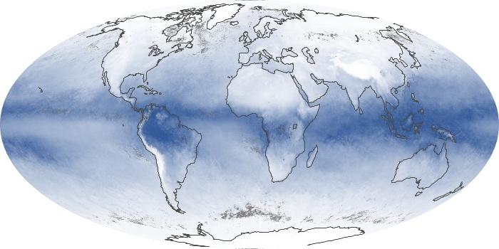 Global Map Water Vapor Image 65