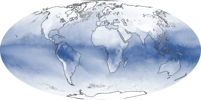 Global Map Water Vapor Image 66