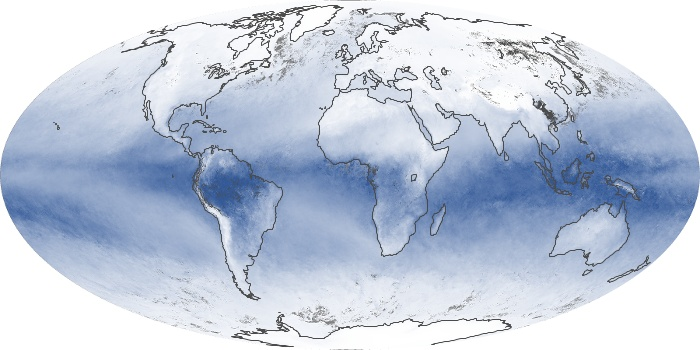 Global Map Water Vapor Image 86