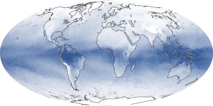 Global Map Water Vapor Image 69