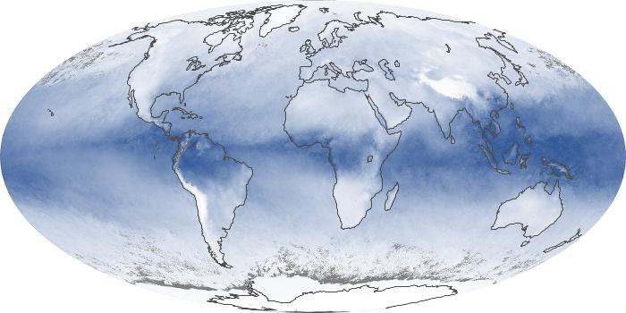 Global Map Water Vapor Image 89