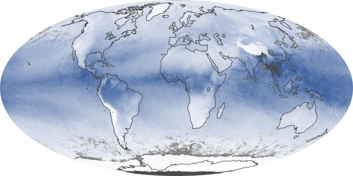 Global Map Water Vapor Image 72