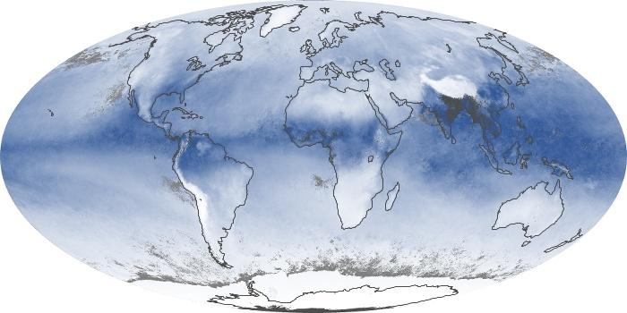 Global Map Water Vapor Image 91