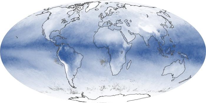 Global Map Water Vapor Image 76
