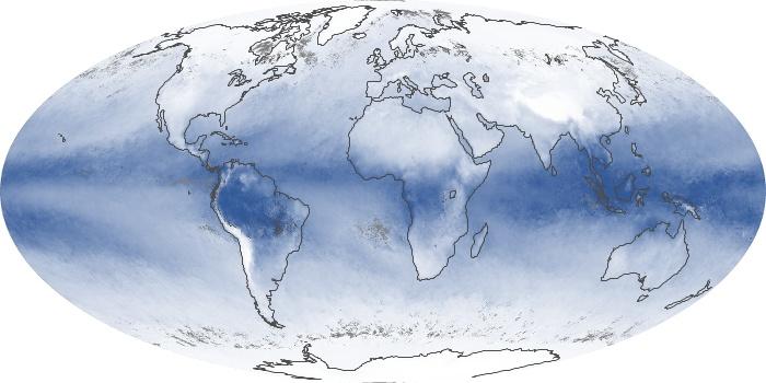 Global Map Water Vapor Image 95