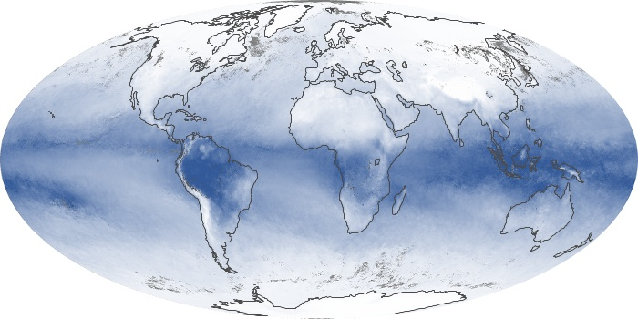 Global Map Water Vapor Image 96