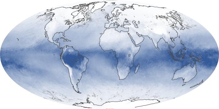 Global Map Water Vapor Image 79