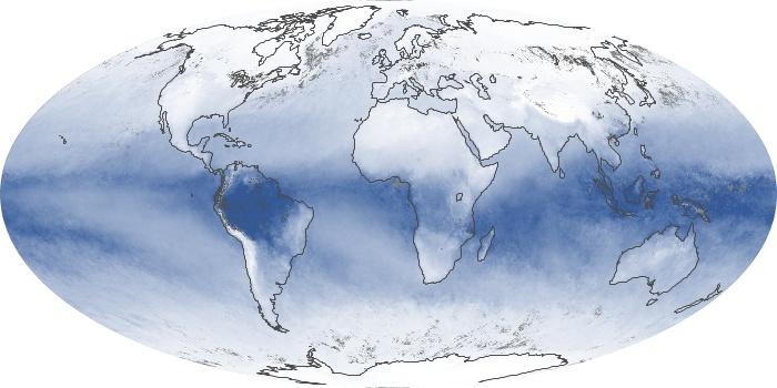Global Map Water Vapor Image 80