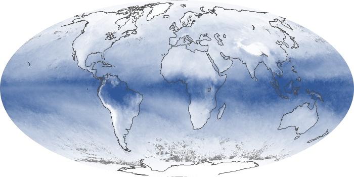 Global Map Water Vapor Image 100