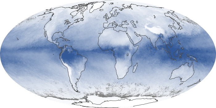Global Map Water Vapor Image 83