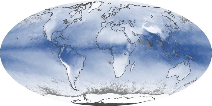 Global Map Water Vapor Image 84