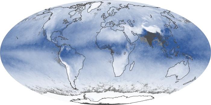Global Map Water Vapor Image 85