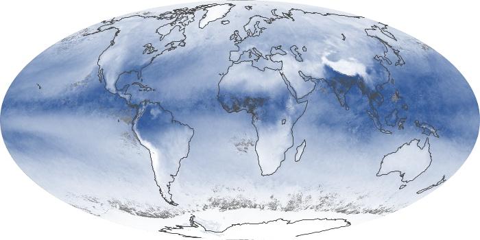 Global Map Water Vapor Image 104