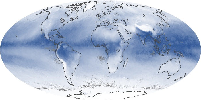 Global Map Water Vapor Image 87