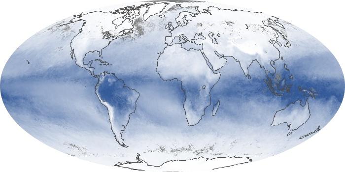Global Map Water Vapor Image 90