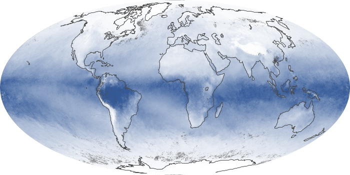 Global Map Water Vapor Image 93