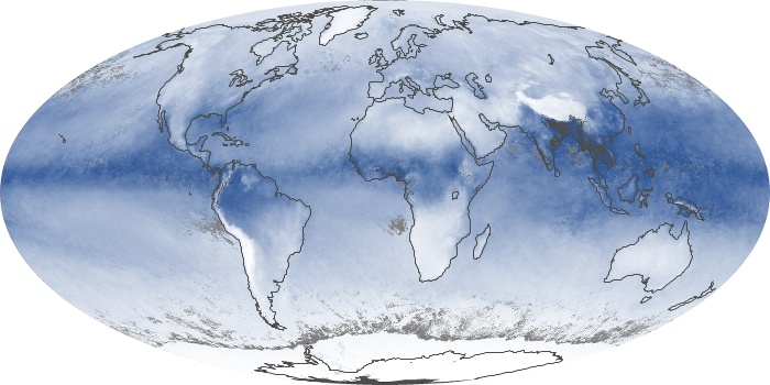Global Map Water Vapor Image 97