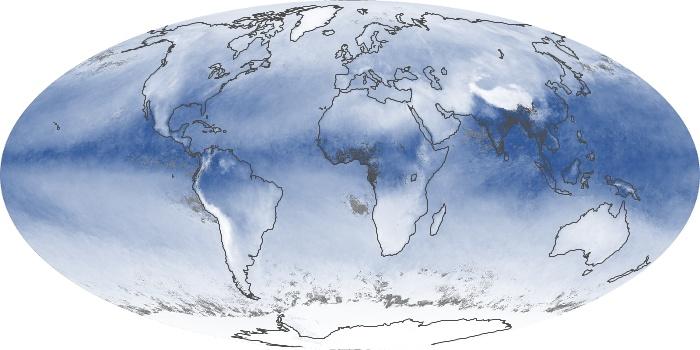 Global Map Water Vapor Image 98