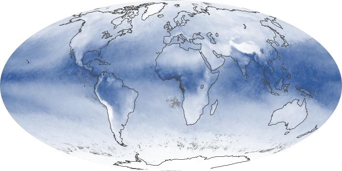 Global Map Water Vapor Image 99