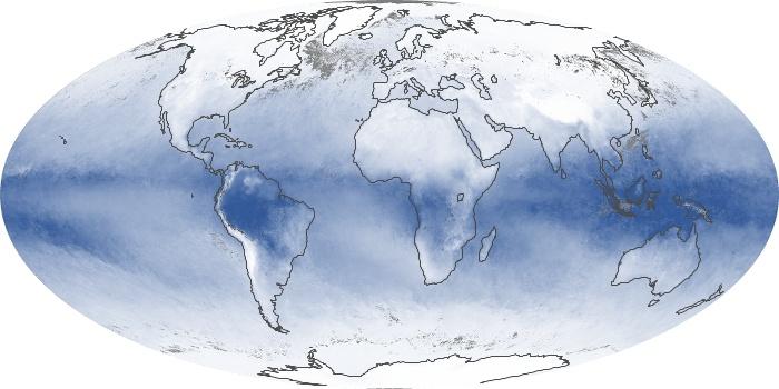 Global Map Water Vapor Image 102