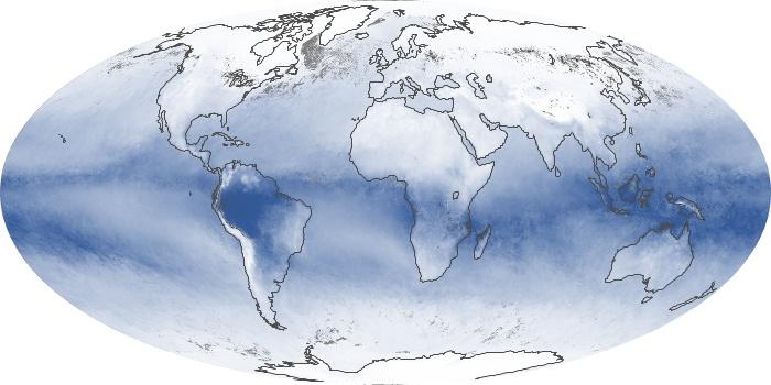 Global Map Water Vapor Image 103
