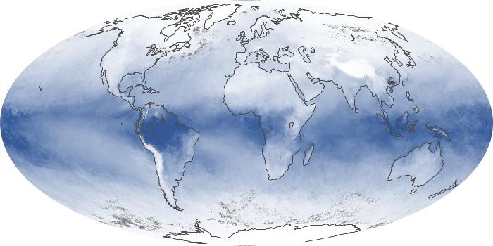 Global Map Water Vapor Image 105