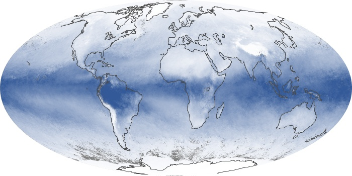 Global Map Water Vapor Image 124