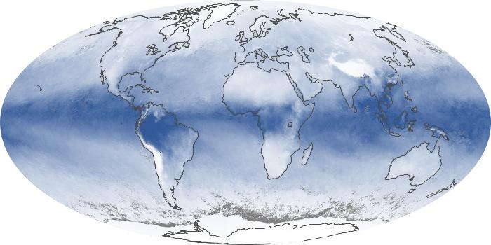 Global Map Water Vapor Image 125