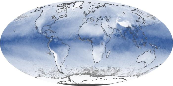 Global Map Water Vapor Image 108