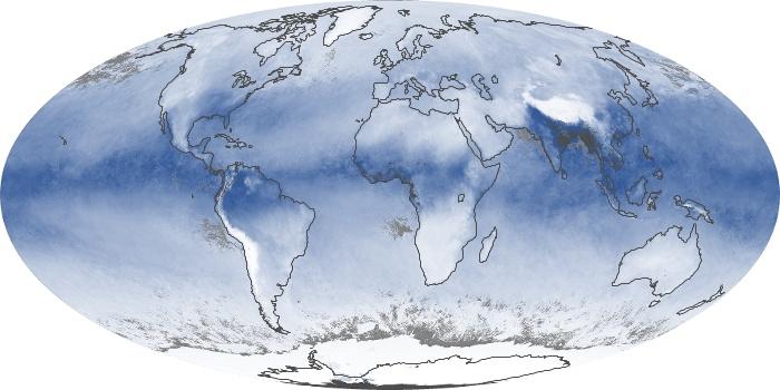 Global Map Water Vapor Image 127
