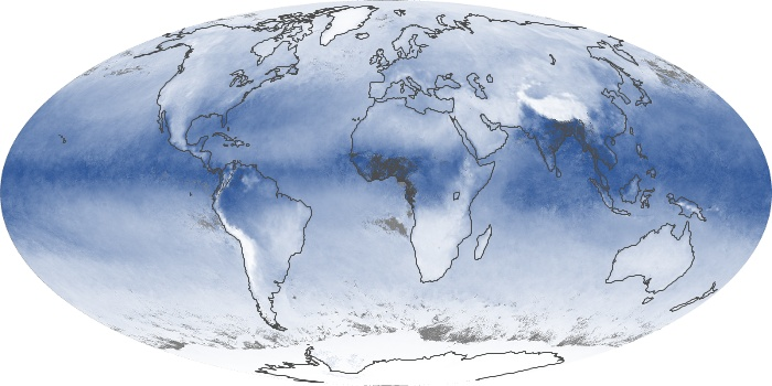 Global Map Water Vapor Image 110