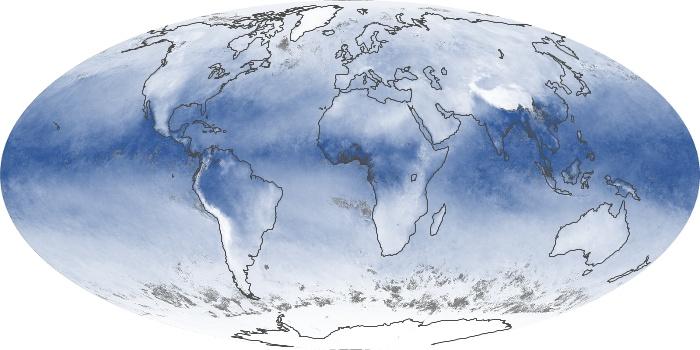Global Map Water Vapor Image 129