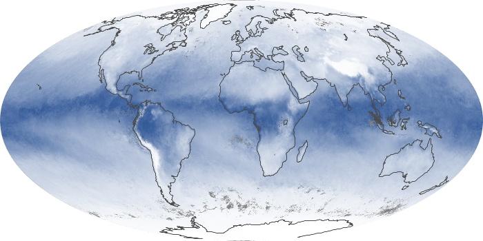 Global Map Water Vapor Image 112