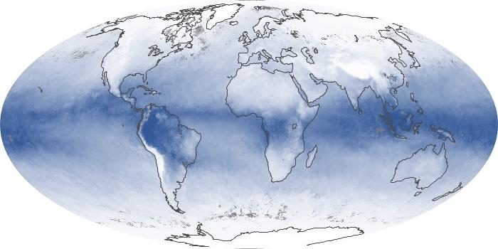 Global Map Water Vapor Image 131