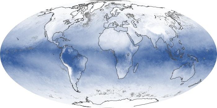 Global Map Water Vapor Image 114