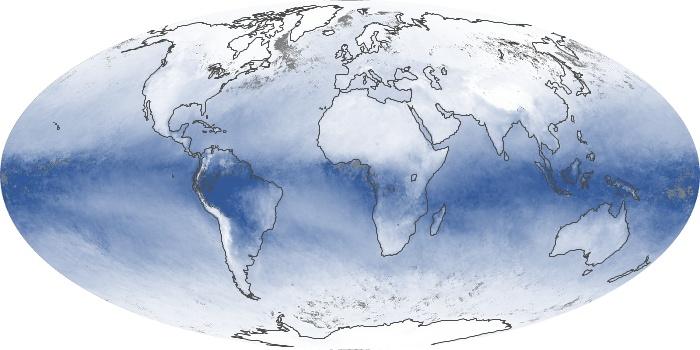 Global Map Water Vapor Image 134