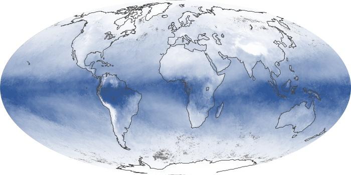 Global Map Water Vapor Image 117