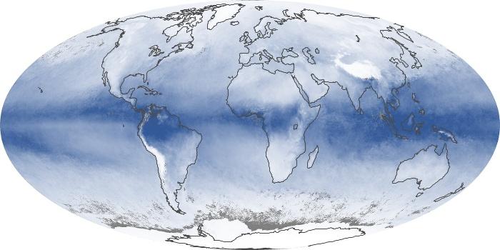Global Map Water Vapor Image 119
