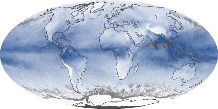 Global Map Water Vapor Image 120