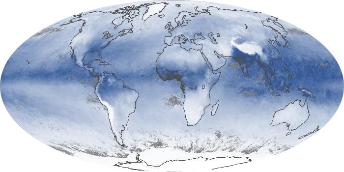 Global Map Water Vapor Image 140