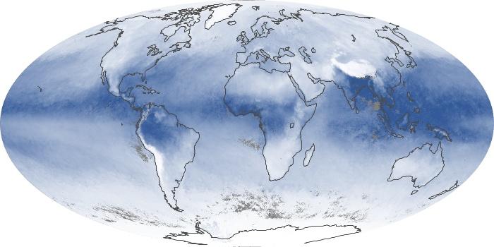 Global Map Water Vapor Image 123