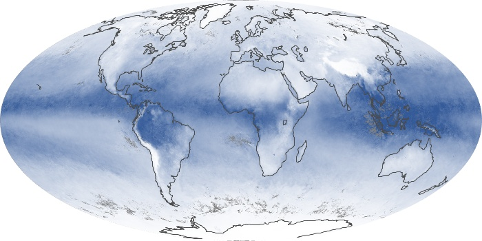Global Map Water Vapor Image 172